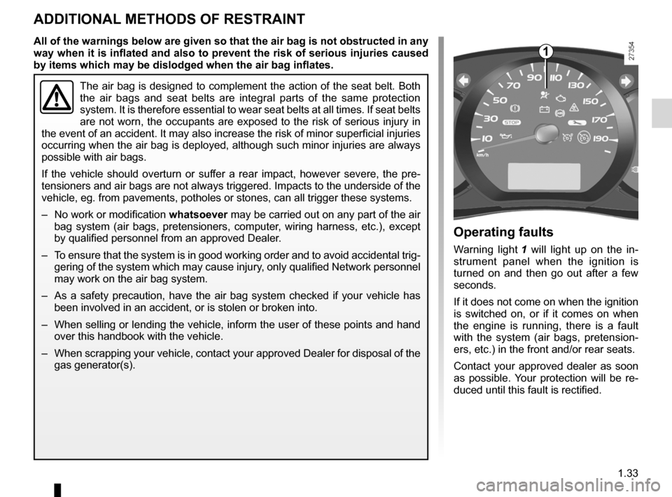 RENAULT KANGOO 2012 X61 / 2.G Owners Manual, Page 39