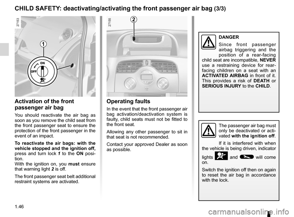 RENAULT KANGOO 2012 X61 / 2.G Owners Manual, Page 52