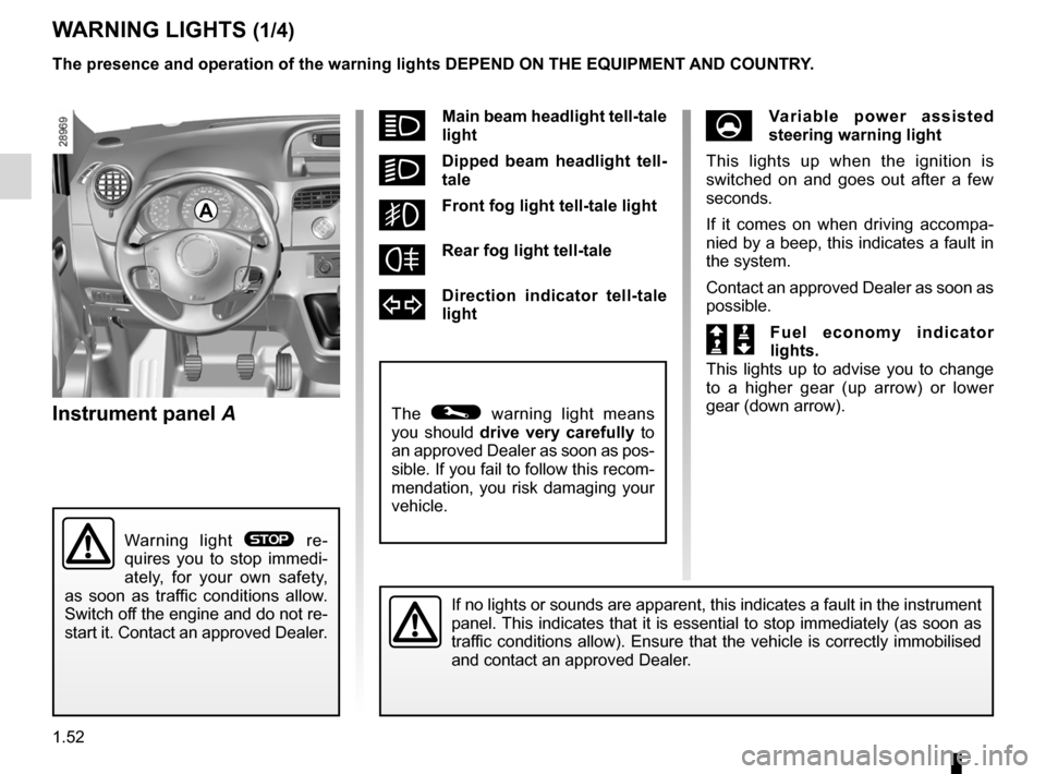 RENAULT KANGOO 2012 X61 / 2.G Owners Manual, Page 58