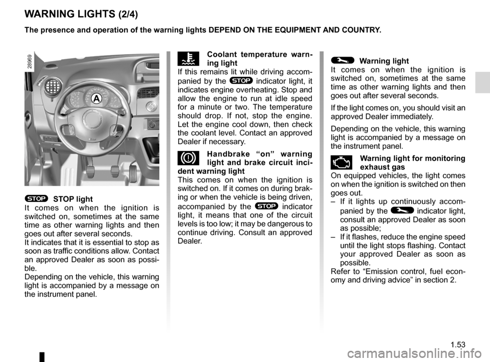 RENAULT KANGOO 2012 X61 / 2.G Owners Manual, Page 59
