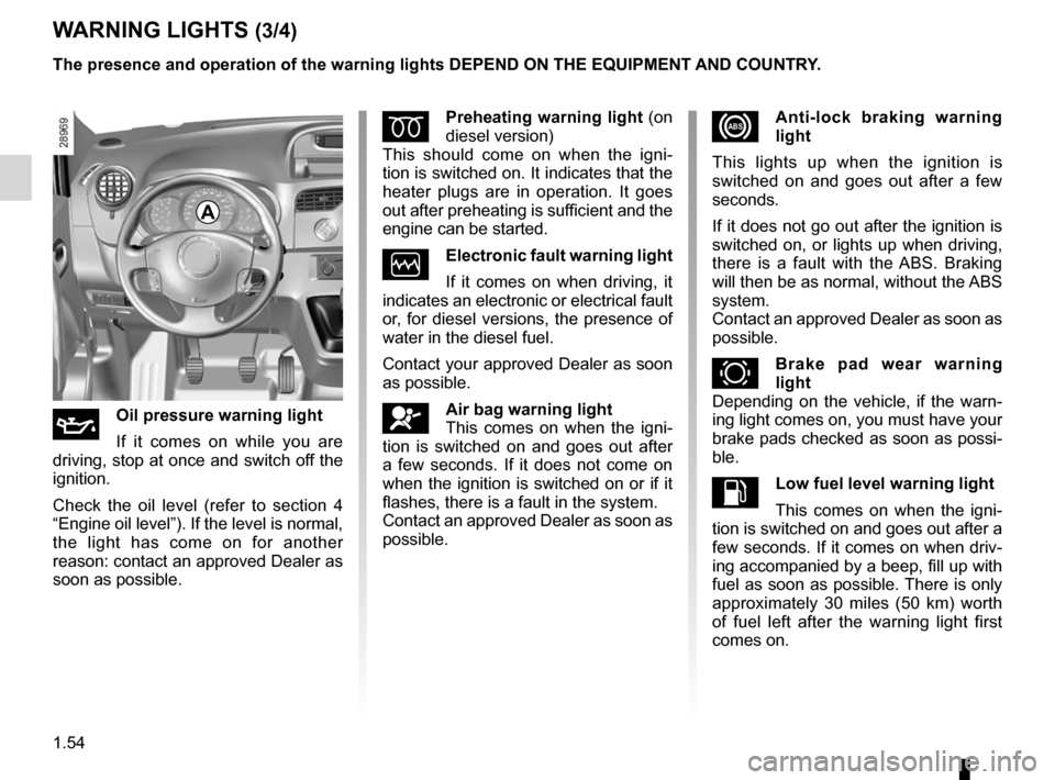RENAULT KANGOO 2012 X61 / 2.G Owners Manual, Page 60