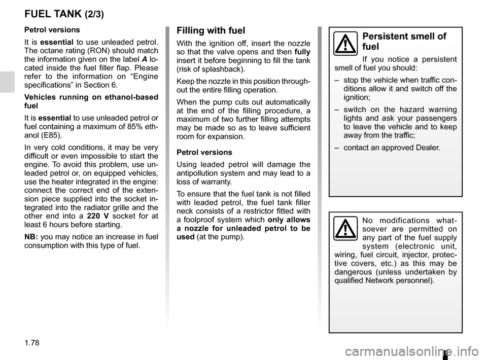 RENAULT KANGOO 2012 X61 / 2.G Owners Manual, Page 84