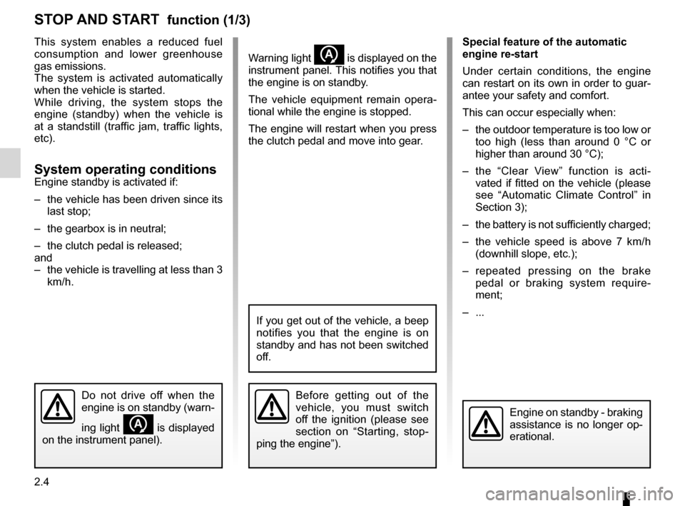 RENAULT KANGOO 2012 X61 / 2.G Owners Manual, Page 90