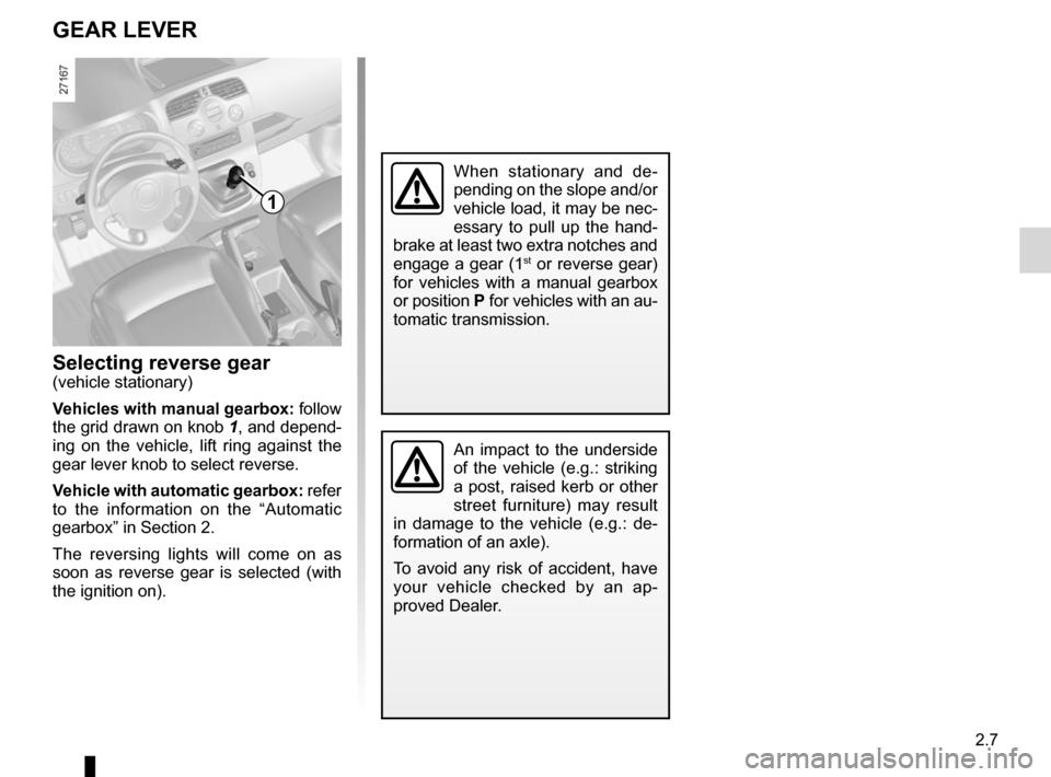 RENAULT KANGOO 2012 X61 / 2.G Owners Manual, Page 93