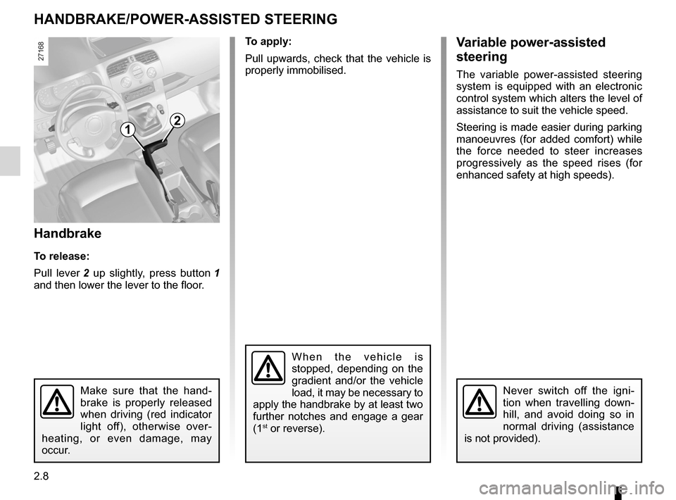 RENAULT KANGOO 2012 X61 / 2.G Owners Manual, Page 94