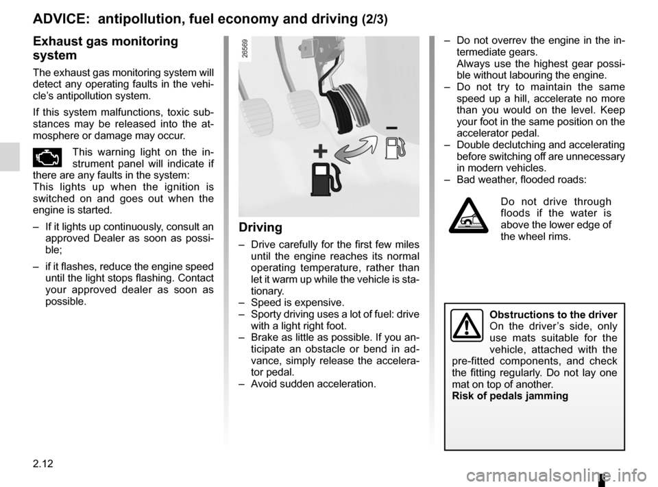 RENAULT KANGOO 2012 X61 / 2.G Owners Manual, Page 98