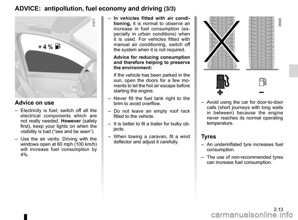 RENAULT KANGOO 2012 X61 / 2.G Owners Manual, Page 99