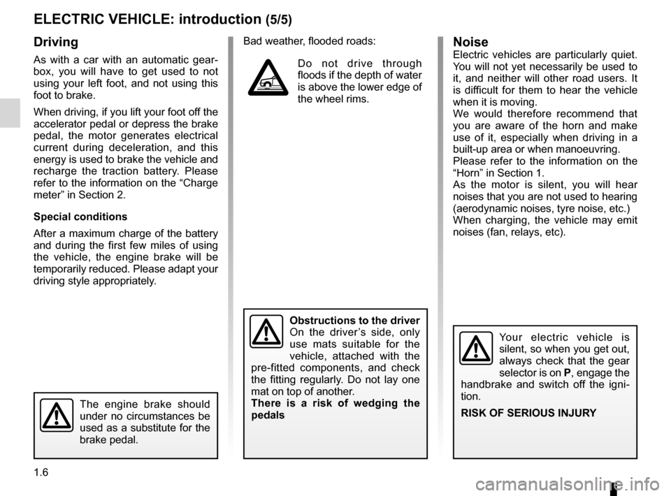 RENAULT KANGOO ZERO EMISSION 2012 X61 / 2.G Owners Manual, Page 11