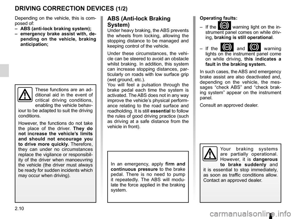 RENAULT KANGOO ZERO EMISSION 2012 X61 / 2.G Owners Manual, Page 101