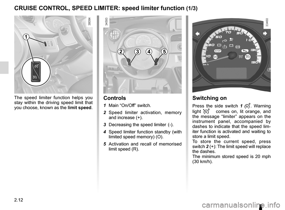 RENAULT KANGOO ZERO EMISSION 2012 X61 / 2.G Owners Manual, Page 103