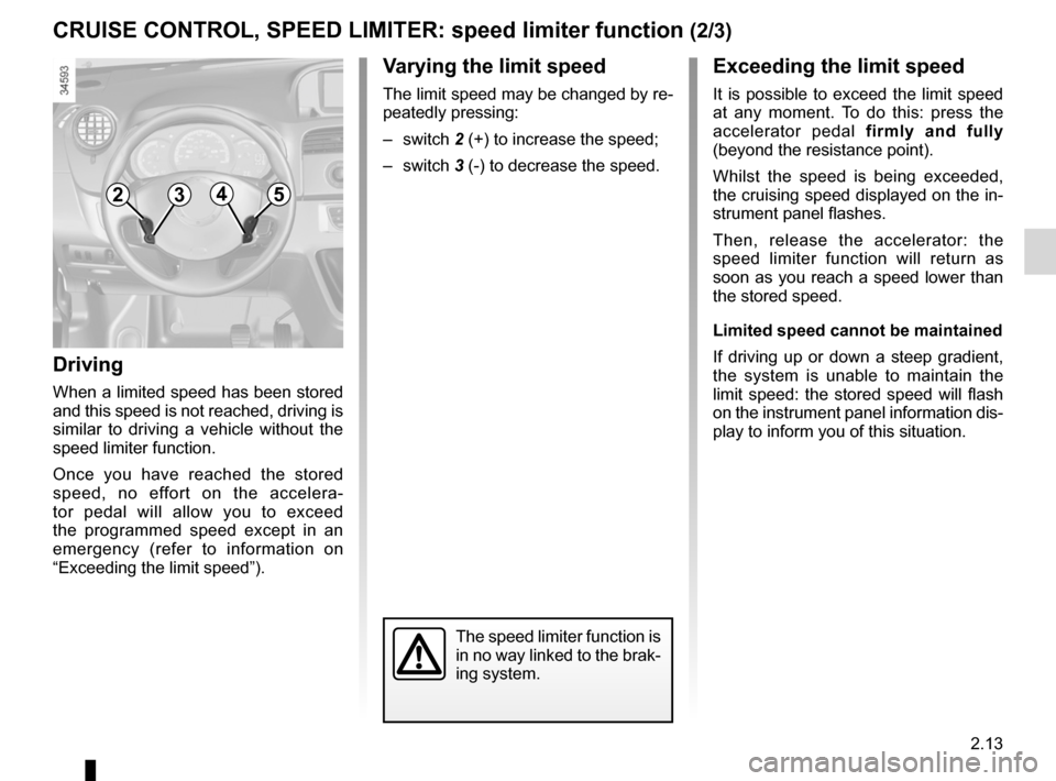 RENAULT KANGOO ZERO EMISSION 2012 X61 / 2.G Owners Manual, Page 104