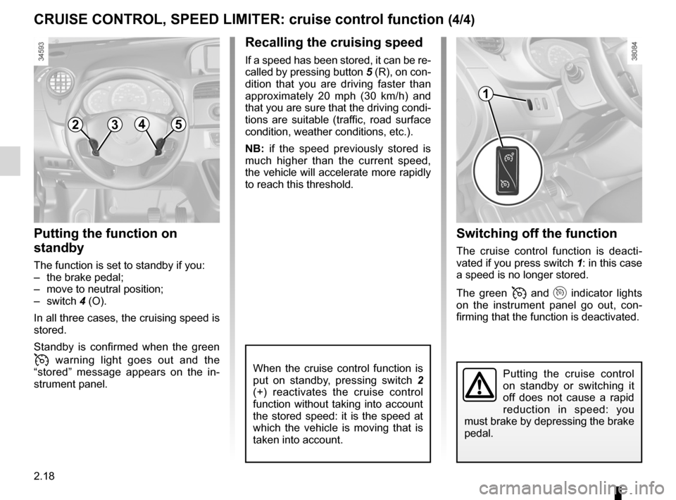 RENAULT KANGOO ZERO EMISSION 2012 X61 / 2.G Owners Manual, Page 109