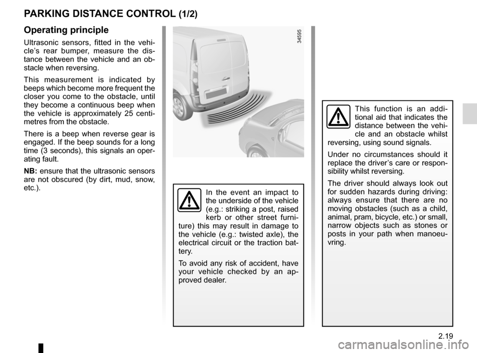 RENAULT KANGOO ZERO EMISSION 2012 X61 / 2.G Owners Manual, Page 110