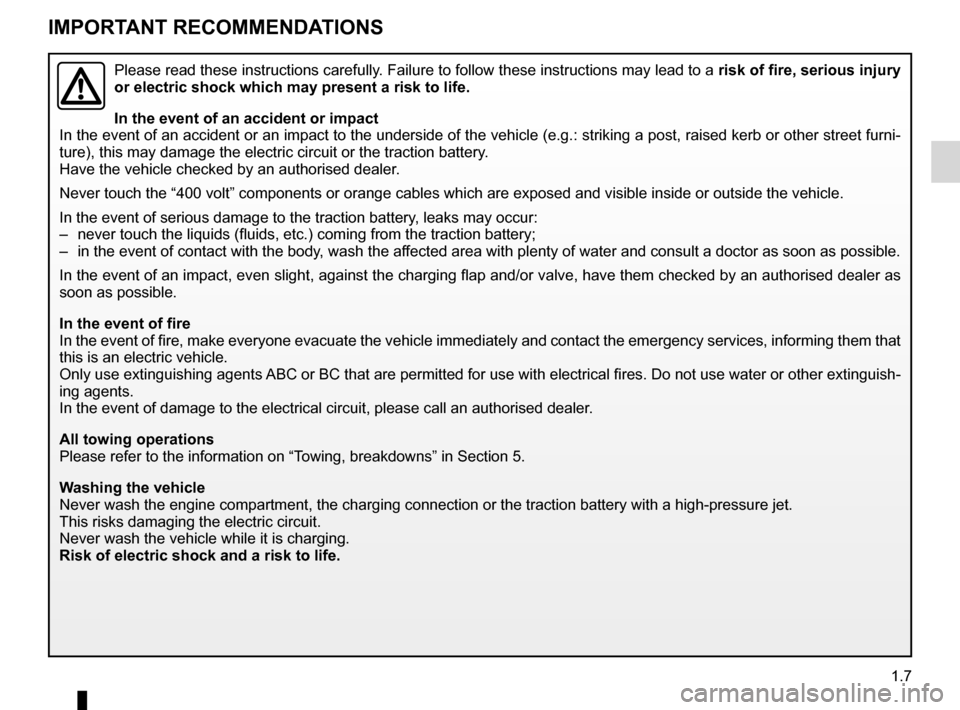 RENAULT KANGOO ZERO EMISSION 2012 X61 / 2.G Owners Manual, Page 12