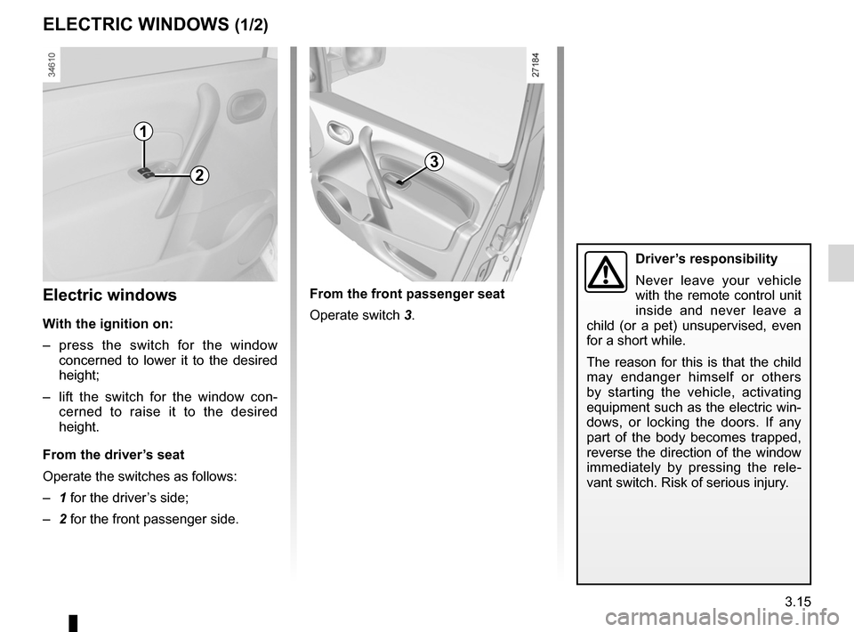 RENAULT KANGOO ZERO EMISSION 2012 X61 / 2.G Owners Manual, Page 126