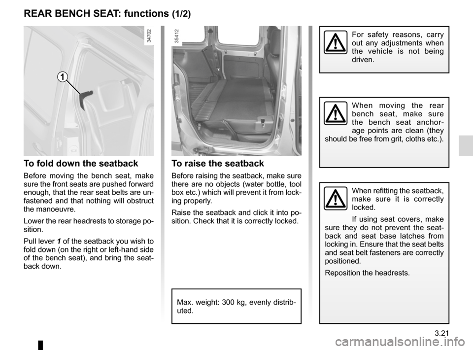 RENAULT KANGOO ZERO EMISSION 2012 X61 / 2.G Owners Manual, Page 132