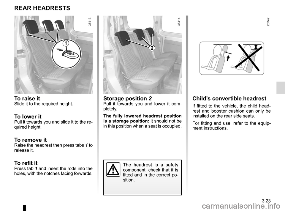 RENAULT KANGOO ZERO EMISSION 2012 X61 / 2.G Owners Manual, Page 134