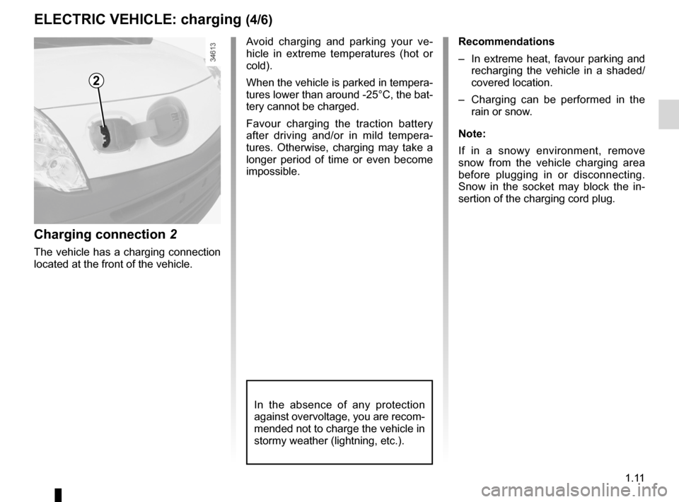 RENAULT KANGOO ZERO EMISSION 2012 X61 / 2.G Owners Manual, Page 16