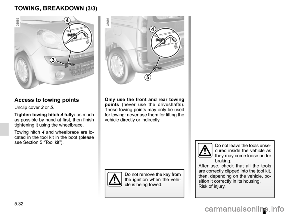 RENAULT KANGOO ZERO EMISSION 2012 X61 / 2.G Owners Manual, Page 181