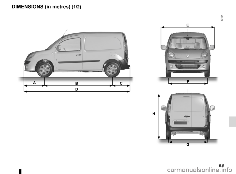 RENAULT KANGOO ZERO EMISSION 2012 X61 / 2.G Owners Manual, Page 194