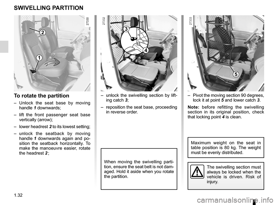 RENAULT KANGOO ZERO EMISSION 2012 X61 / 2.G Owners Manual, Page 37