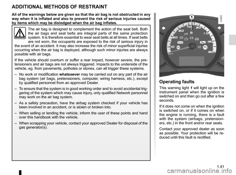RENAULT KANGOO ZERO EMISSION 2012 X61 / 2.G Owners Manual, Page 46