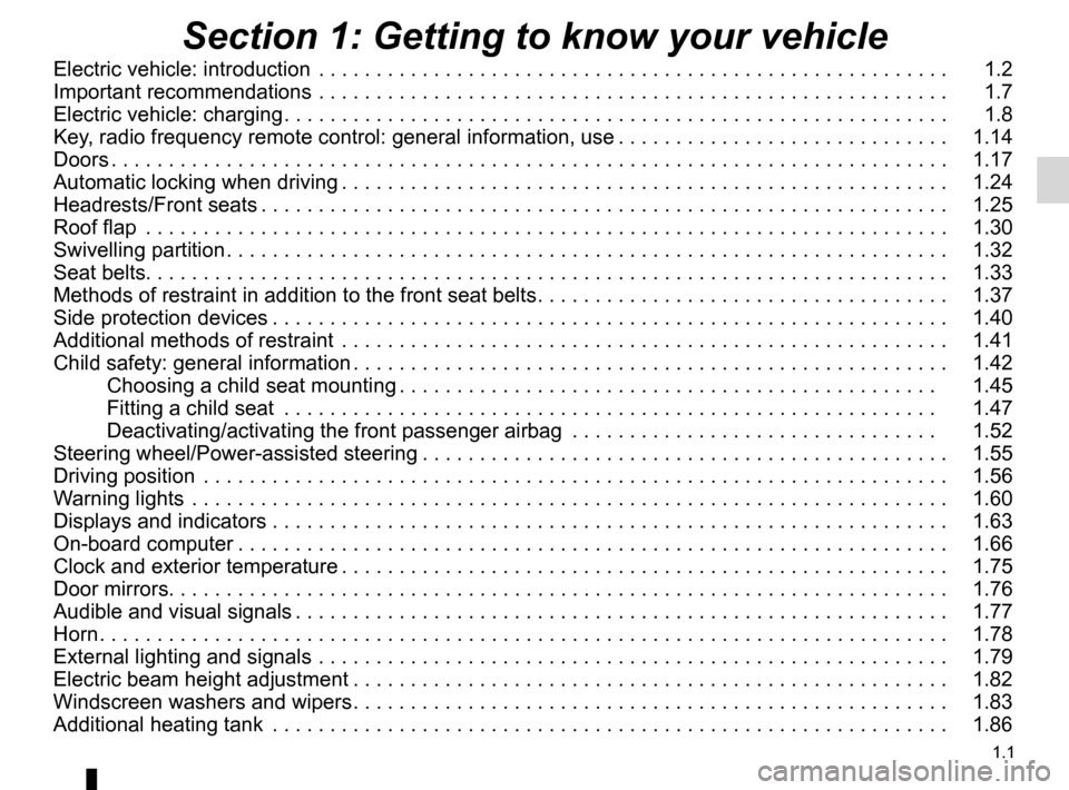 RENAULT KANGOO ZERO EMISSION 2012 X61 / 2.G Owners Manual, Page 6