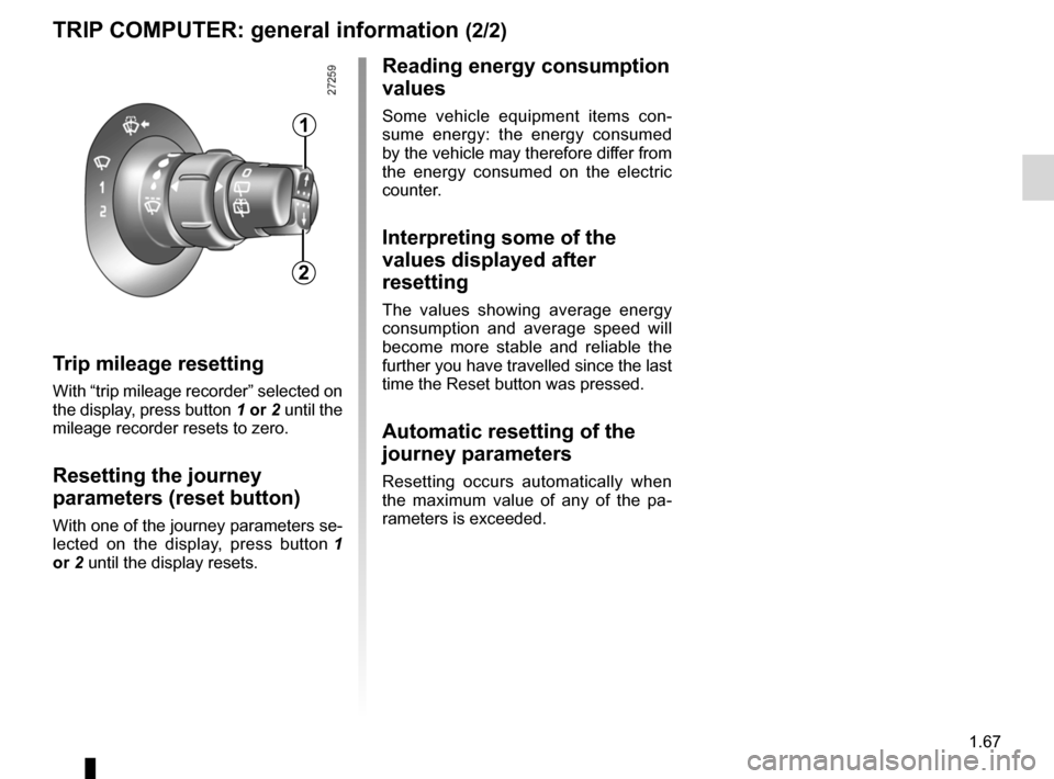 RENAULT KANGOO ZERO EMISSION 2012 X61 / 2.G Owners Manual, Page 72
