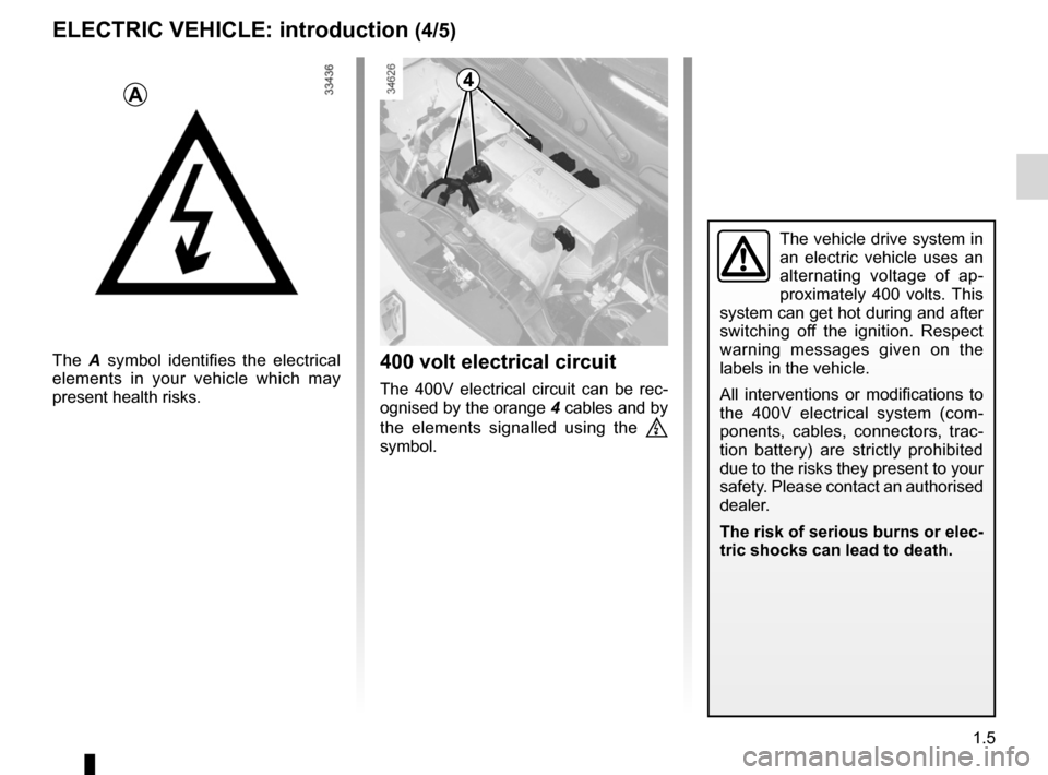 RENAULT KANGOO ZERO EMISSION 2012 X61 / 2.G Owners Manual, Page 10