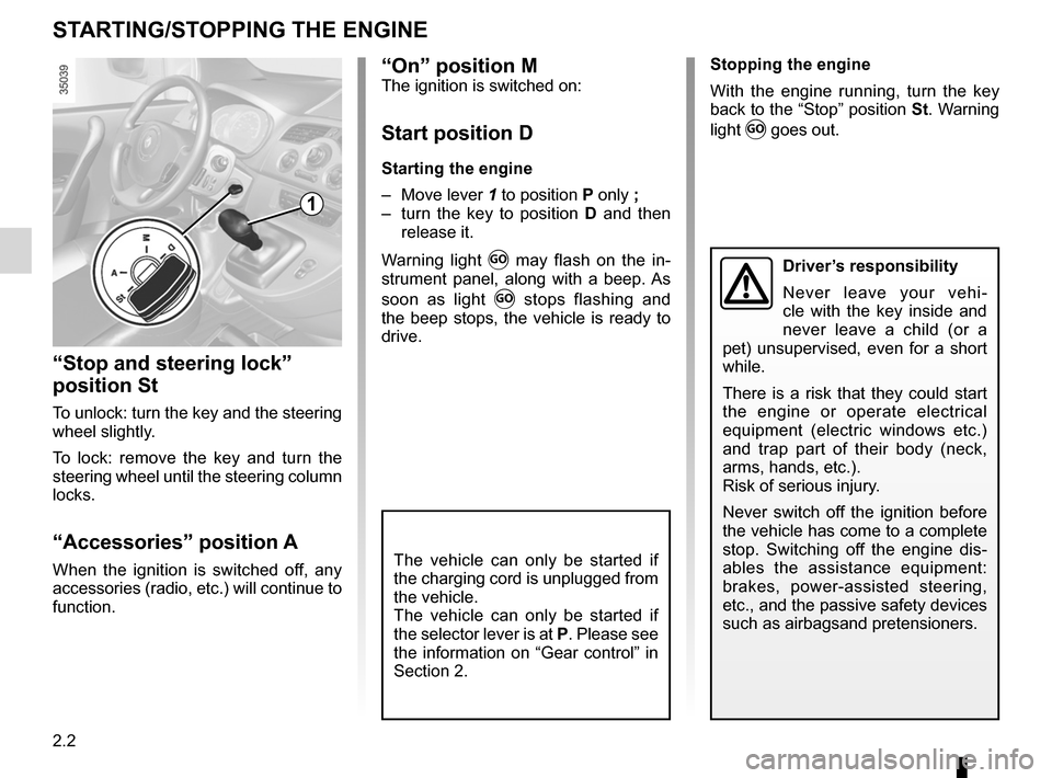 RENAULT KANGOO ZERO EMISSION 2012 X61 / 2.G Owners Manual, Page 93