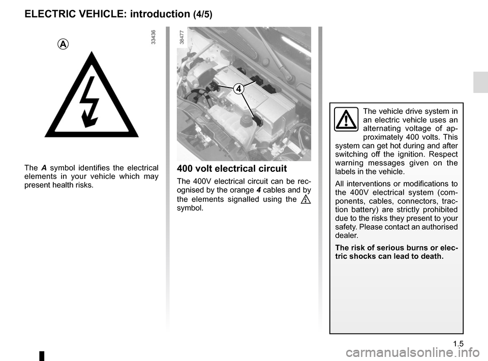 RENAULT KANGOO VAN ZERO EMISSION 2012 X61 / 2.G Owners Manual, Page 11