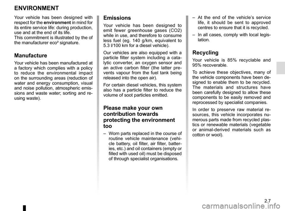 RENAULT KANGOO VAN ZERO EMISSION 2012 X61 / 2.G Owners Manual, Page 101