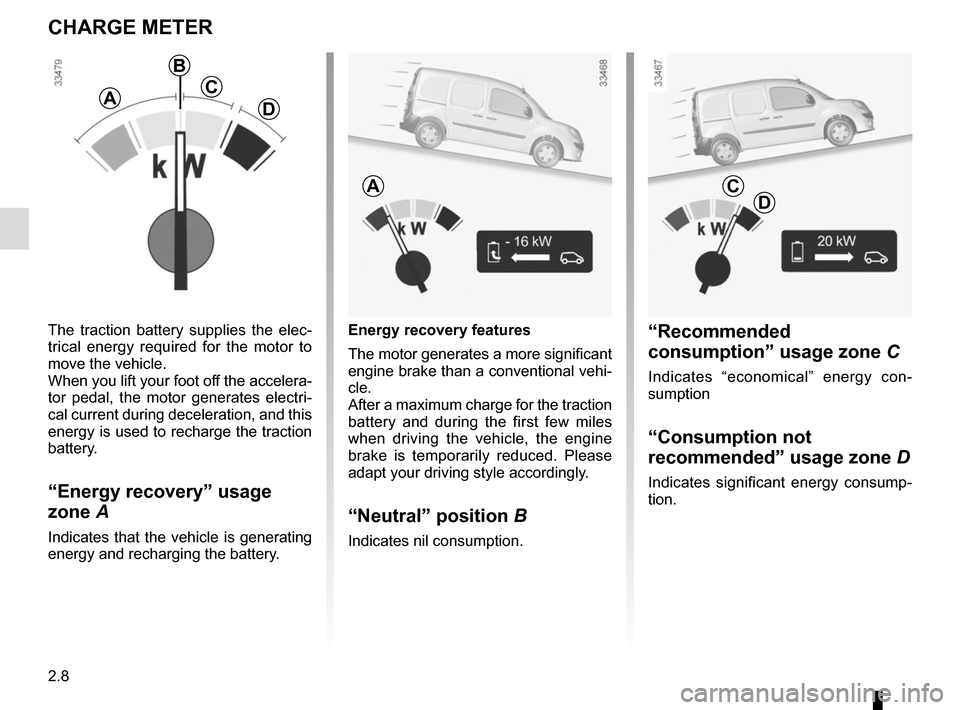 RENAULT KANGOO VAN ZERO EMISSION 2012 X61 / 2.G Owners Manual, Page 102