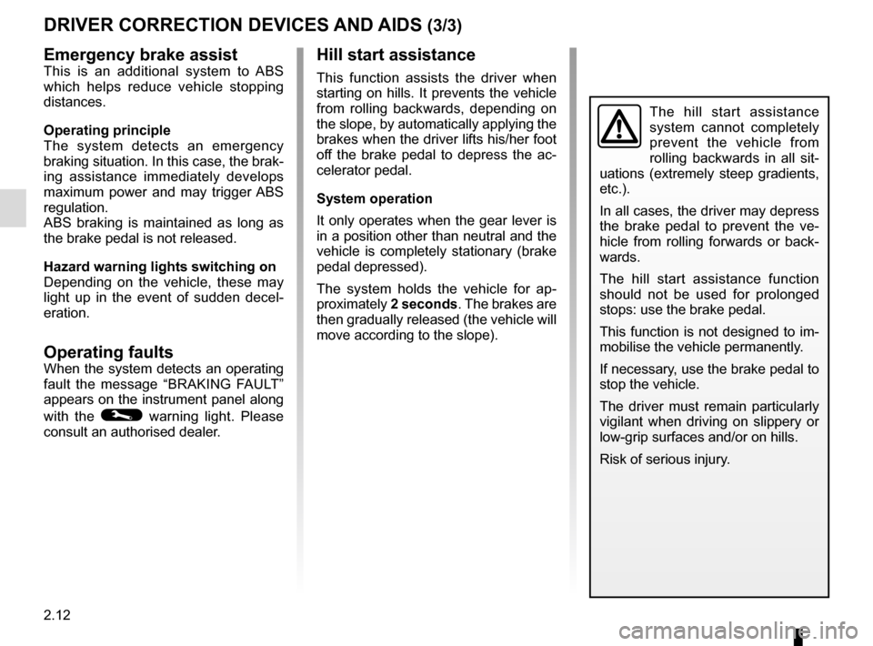 RENAULT KANGOO VAN ZERO EMISSION 2012 X61 / 2.G Owners Manual, Page 106