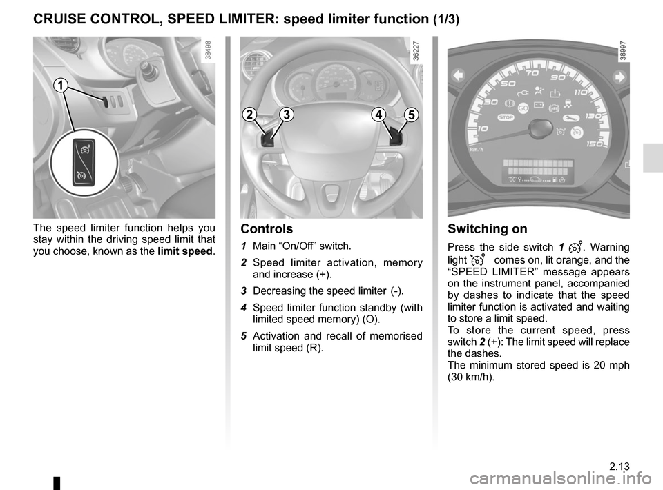 RENAULT KANGOO VAN ZERO EMISSION 2012 X61 / 2.G Owners Manual, Page 107