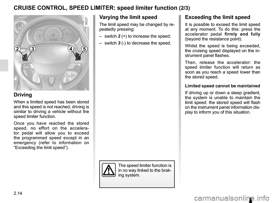 RENAULT KANGOO VAN ZERO EMISSION 2012 X61 / 2.G Owners Manual, Page 108