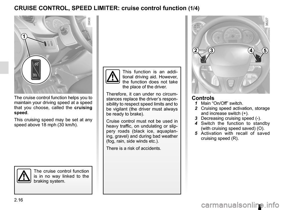 RENAULT KANGOO VAN ZERO EMISSION 2012 X61 / 2.G Owners Manual, Page 110