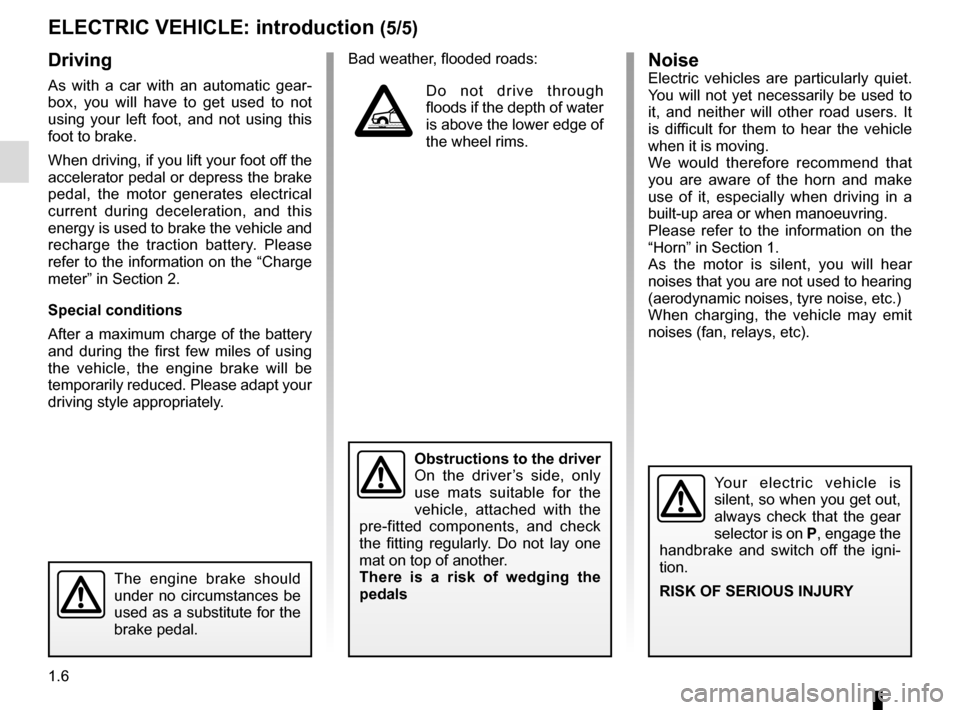 RENAULT KANGOO VAN ZERO EMISSION 2012 X61 / 2.G Owners Manual, Page 12