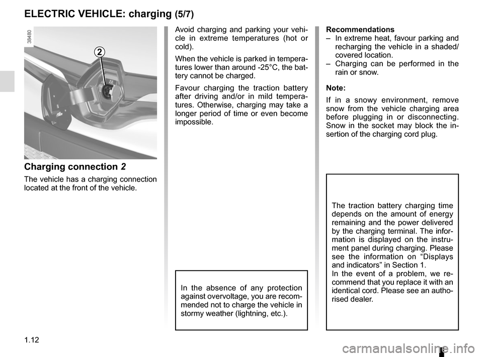 RENAULT KANGOO VAN ZERO EMISSION 2012 X61 / 2.G Owners Manual, Page 18