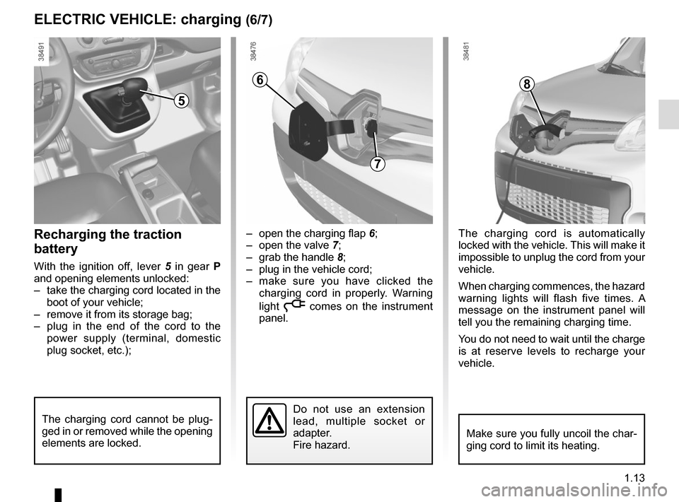 RENAULT KANGOO VAN ZERO EMISSION 2012 X61 / 2.G Owners Manual, Page 19