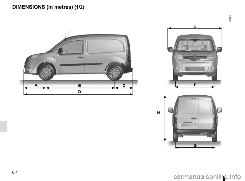 RENAULT KANGOO VAN ZERO EMISSION 2012 X61 / 2.G Owners Manual, Page 198