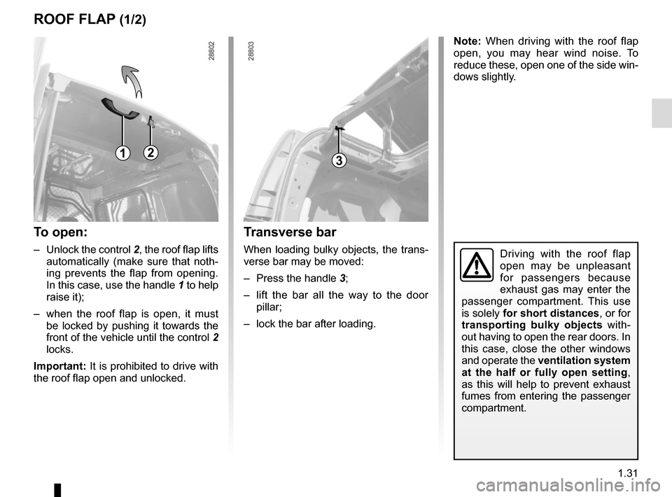 RENAULT KANGOO VAN ZERO EMISSION 2012 X61 / 2.G Owners Manual, Page 37