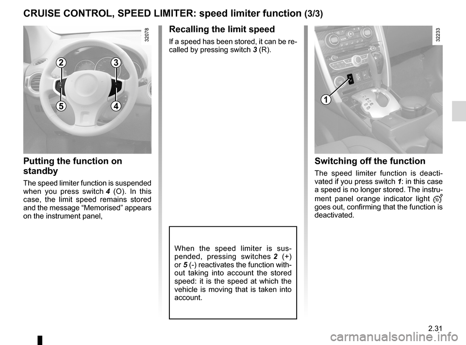 RENAULT KOLEOS 2012 1.G Owners Manual, Page 109