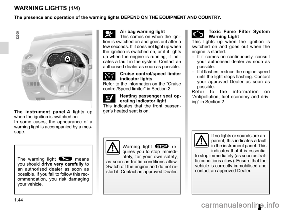 RENAULT KOLEOS 2012 1.G Owners Manual, Page 50