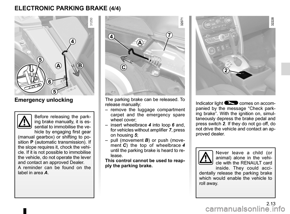 RENAULT KOLEOS 2012 1.G Owners Manual, Page 91