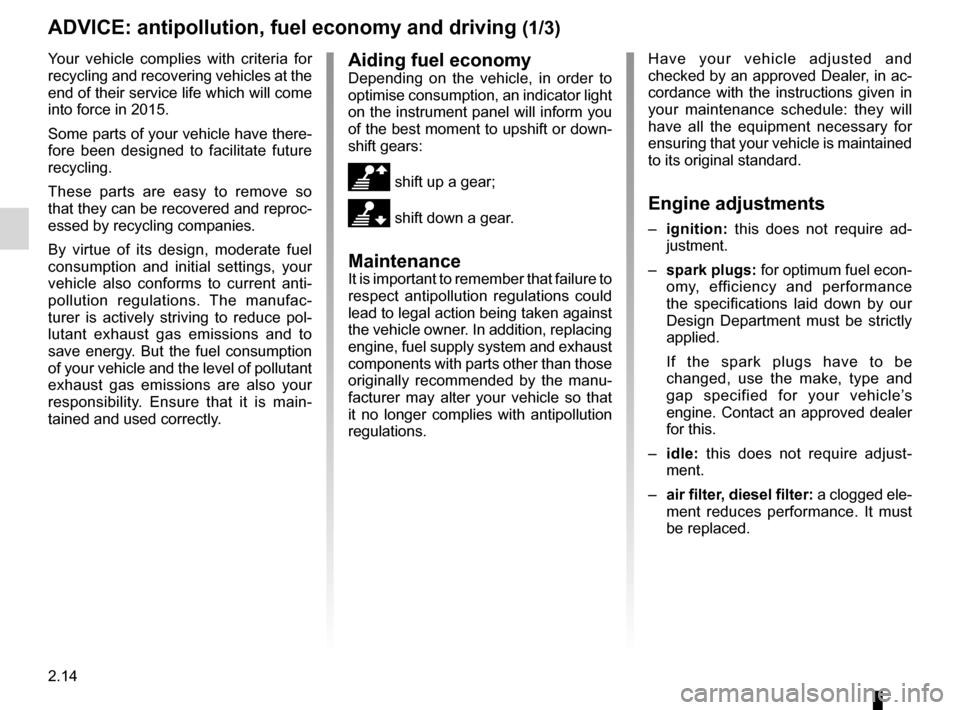 RENAULT KOLEOS 2012 1.G Owners Manual, Page 92