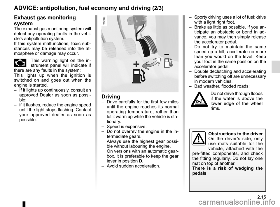 RENAULT KOLEOS 2012 1.G Owners Manual, Page 93