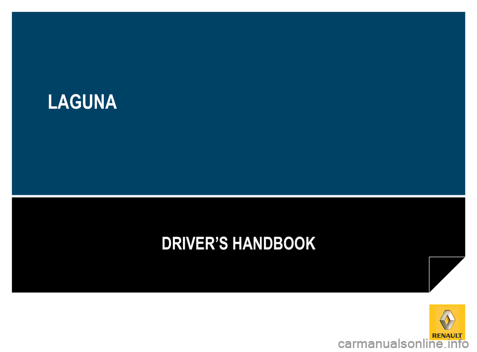 RENAULT LAGUNA COUPE 2012 X91 / 3.G Owners Manual, Page 1