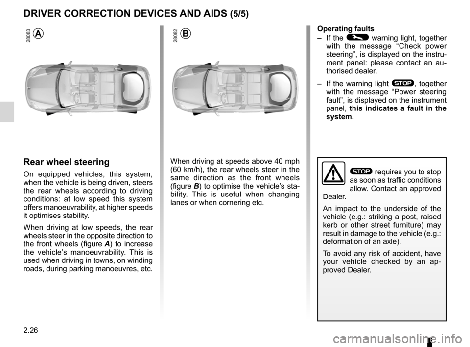 RENAULT LAGUNA COUPE 2012 X91 / 3.G Owners Manual, Page 104