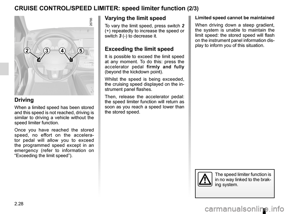 RENAULT LAGUNA COUPE 2012 X91 / 3.G Owners Manual, Page 106